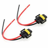 2X H11 Bulb Holder Connector Wiring Harness Socket Wire for Headlight Fog Light