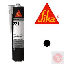 Sikaflex 221 - Black - Adhesive Sealant, High Strength - Car, Van, Boat, Home