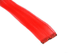 "CLIP-IN 12"" HAIR EXTENSIONS NEON RED EMO SCENE GOTH PUNK RAVE FUNKY"