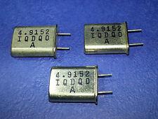 4.9152 MHz. Crystal Xtal HC49.... LOTTO di 3