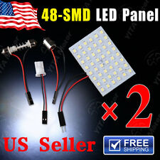 2 X Festoon T10 BA9S C5W White LED 48SMD Panel Interior Dome Map Light Bulb Lamp