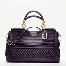 Coach.GD / AUBERGINE MADISON PLEATED GATHERED LEATHER CAROLINE BAG BRAND NEW !!!