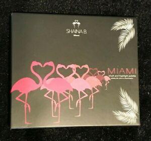 New!! SHAINA B. MIAMI Blush & Highlight Palette FULL SIZE 4 Shades MATTE Shimmer