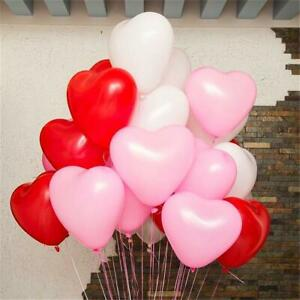 """12"""" Red, Pink & White Love Heart Latex Balloon Bouquet Mother's Valentine's Day"""