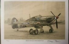 Limited Edtn Aviation Print Hawker Hurricane Bob Stanford Tuck by Stephen Brown