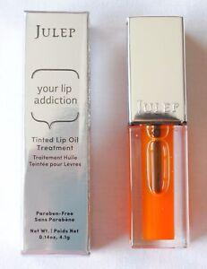 Julep Your Lip Addiction Tinted Lip Camellia Oil Treatment Plump Orange Crave