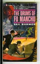 DRUMS OF FU MANCHU by Sax Rohmer, Pyramid #F804 Asian crime gga pulp vintage pb