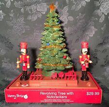 ANIMATED NUTCRACKER SCENE with REVOLVING TREE CHRISTMAS DISPLAY LIGHTED /MUSICAL