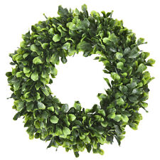 "Pure Garden Preserved Boxwood Wreath 16"" Home Door Decor Greenery Wedding Event"
