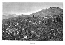 Izmir, Smyrna, Türkei, Gesamtansicht, Stahlstich von ca. 1880