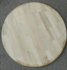 """24"""" Round unfinish sanded Solid oak Butcher Block Table Top indoor use 1.75"""""""