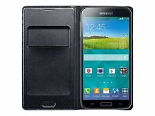 Genuine Samsung Black Flip Wallet Case for Samsung Galaxy S5 / Galaxy S5 Neo