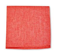 Frederick Thomas coral rojo Lino Liso Pañuelo Bolsillo Cuadrado FT3407