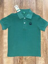 United Colors Of Benetton Dark Green Boys Polo Shirt XXS Age 3-4 BNWT