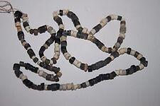 Antica ORIGINALE Eastern Grey Pietra Lucidata Perline Collana restrung c.3000 A.C.