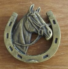 Vintage Brass Horse Head Door Knocker ~ Equestrian Metallic Door Hardware