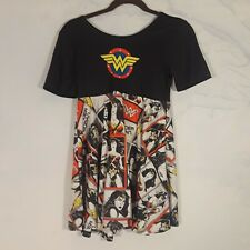 Girls Wonder Woman comic book Dress 12/14 stretchy