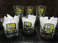 Vintage Long Island Railroad 6.5 Oz. Whiskey / Bourbon Glasses Set of 6 With Box