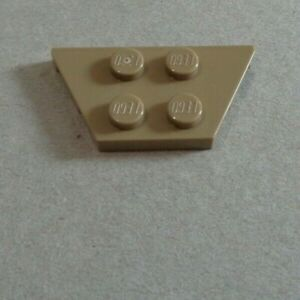 LEGO 51739 - 6003379 Wedge Plates 2x4 Sand Yellow x1 Parts & Pieces**