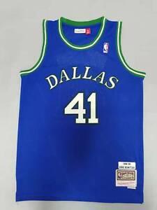 Dirk Nowitzki 1998-99 Dallas Mavericks Throwback Swingman Jersey Blue Size S-XXL