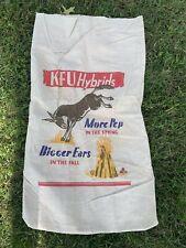 Vintage KFU Hybrids Seed Corn Bag/Sack Kicking Mule More Pep