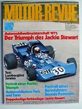 Zeitschrift Motor Revue Heft 80 Winter 1971/72 mit Lamborghini Jarama,MB 350 SLC