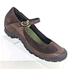 Merrell Plaza MJ Saddle Mary Jane Brown Suede Leather Womens Shoe SIZE 8