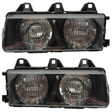 Headlights Front Lamps Pair Set for 92-98 BMW 3 Series/E36 Left & Right