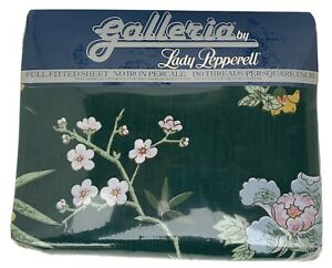 NIP Galleria by Lady Pepperell Full Fitted Sheet Singing Blossoms Vintage USA
