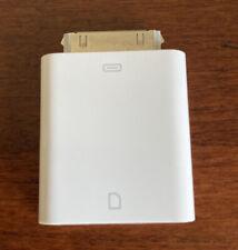 30 pin iPhone iPad SD card reader Genuine Apple Model A1362
