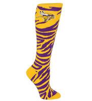 Minnesota Vikings NFL For Bare Feet Womens Zebra Knee High Socks- SZ M