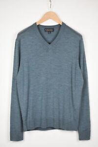 BROOKS BROTHERS BROOKSTECH MERINO Men's MEDIUM Blue Melange Sweater 38000_GS