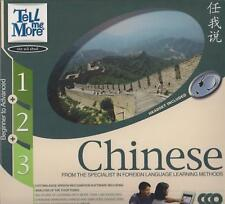 """Tell Me More"" Mandarin Chinese self-learning PC CD-ROM homeschool - open box"