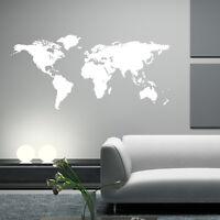 Mapa Del Mundo Vinilo Adhesivo de pared frases