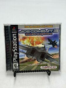 Ace Combat 3: Electrosphere (Playstation 1, 1999) PS1 Complete Black Label