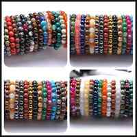 Wholesale 10MM Natural Gemstone Round Beads Stretchy Bracelets Assorted Stones