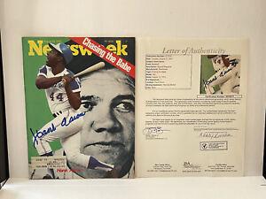 "Hank Aaron ""715"" Home Runs Signed Newsweek Babe Ruth Cvr 1973 JSA Letter Of Auth"