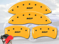 2006-2010 BMW M5 M6 Front + Rear Yellow MGP Brake Disc Caliper Covers 4pc Set