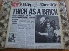 JETHRO TULL THICK AS A BRICK Mega Rrare SPANISH PRESS NEWSPAPER COVER EX/NM