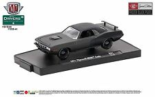 1:64 M2 Machines Auto DRIVERS SERIES 41 FROZEN BLACK - 1971 PLYMOUTH HEMI CUDA