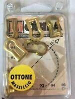 6 Bocchette in ottone lucido con bordo bocchetta chiavi mobili armadi cassetti