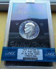 1972-S NGC PF68 ULTRA CAMEO SILVER EISENHOWER IKE DOLLAR $1 * US MINT SEALED *