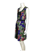 Simply Vera Wang Impressionist Watercolor Rose Print Sleeveless Sheath Dress Med