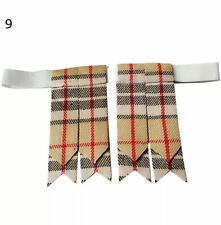 Scottish Kilt Hose Flashes Camel Thomson/kilt Sock Flashes/kilt Flashes Red