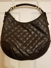 AUTHENTIC BURBERRY HANDBAG - BROOK HOBO- QUILTED BROWN  LEATHER Large