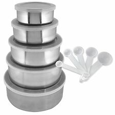 New 15 Piece Home Collections Stainless Steel Clear Storage Bowl Set Kitchen Set