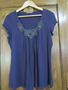 LADIES MARKS AND SPENCER MAUVE TUNIC SIZE 16 -  HOUSE CLEARANCE