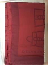 Delvaux châle brillant magique rouge 100% laine