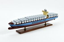 """Maersk Sealand Container Handmade Wooden Ship Model 28"""""""