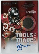 WARRICK DUNN 2013 ABSOLUTE AUTO AUTOGRAPH HELMET TOOLS OF THE TRADE CARD #21/25!